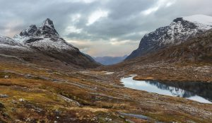 Bispen and Storgrovfjellet rise above Alnesvatnet, Norway – Landscape Photography