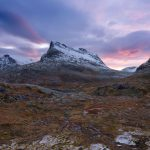 Stigbotthornet and Storgrovfjellet mountain rise above Alnesvatnet, Norway – Landscape Photography