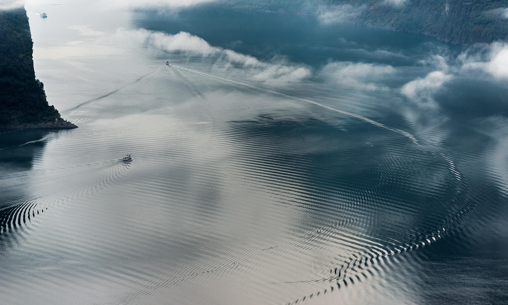 Boats on Aurlandsfjorden, Norway – Landscape Photography