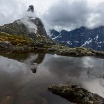 Romsdalshornet in clouds, Åndalsnes, Norway – Landscape Photography