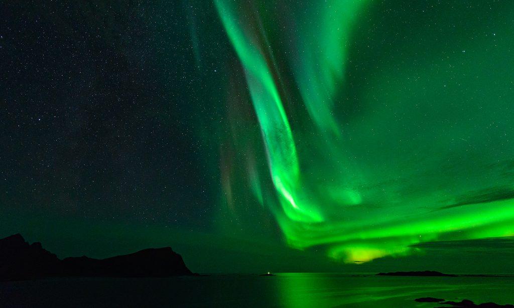 prestfjorden polar light aurora borealis